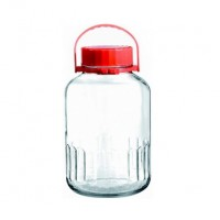 Frasco garrafa vidrio con tapa 5 litros