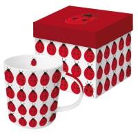 Mug decorado mariquitillas Nine Ladies PPD 35cl