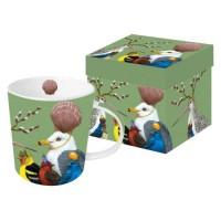 Mug decorado pájaros Sully's Party PPD 35cl