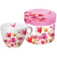 Mug grande en caja regalo amapolas Aquarell Poppies & Daisies PPD 45cl