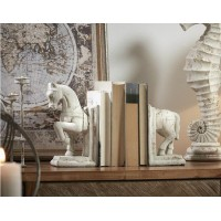 Sujeta libros cemento figura caballo 26x8x24cm