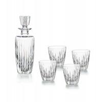 Juego de cristal para whisky o licores 5 piezas: botella + 4 vasos bajos Fantasy Vista Alegre