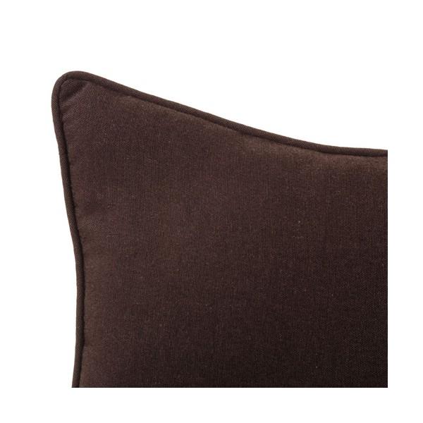 Coj n cuadrado con relleno liso marr n chocolate 45x45cm - Cojines marron chocolate ...