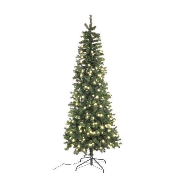 Arbol navidad slim averan con luces led 430 ramas altura 150cm - Luces arbol navidad ...