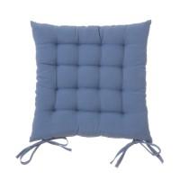 Cojín para silla cuadrado azul 40x40x7 cm