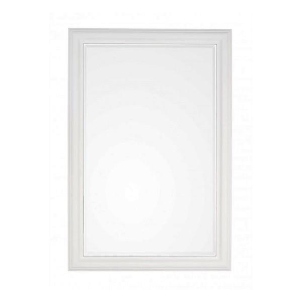 Espejo marco madera paulownia blanco 60x90 cm for Espejo marco madera blanco