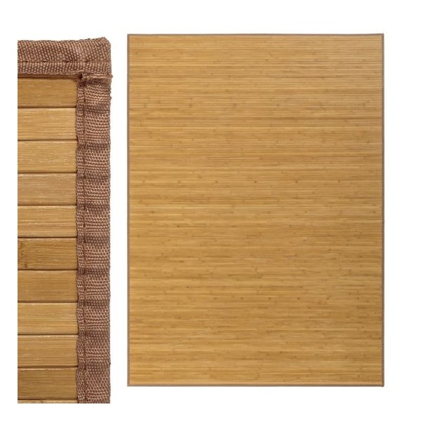 Alfombra tablillas bamb color natural 180x250cm - Alfombras bambu colores ...
