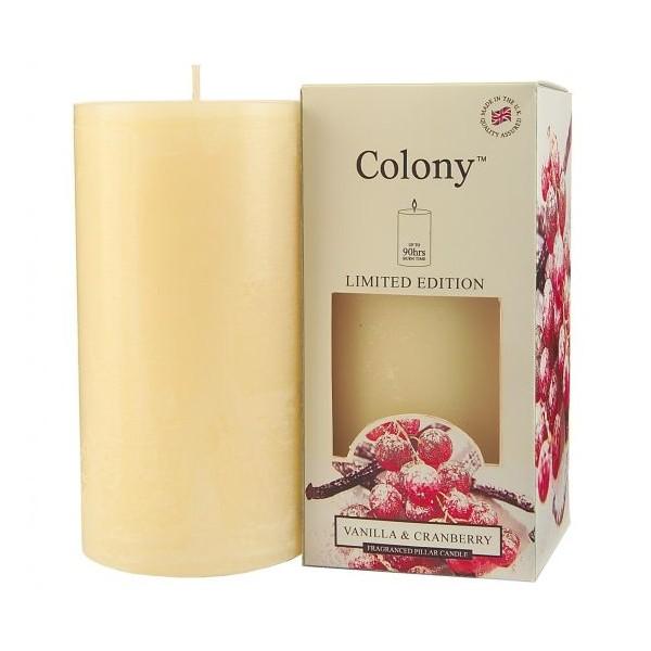 Vela blanca aroma Vainilla & Cranberry 7x15 cm