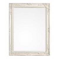 Espejo con marco blanco relieve Miro 62x82cm