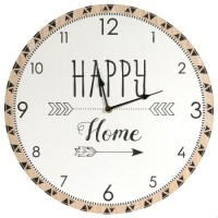 Reloj de madera Happy Home 60 cm
