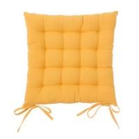 Cojín para silla cuadrado mostaza 40x40x7 cm