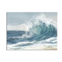 Lienzo cuadro Ola mar colores azules 100x70cm