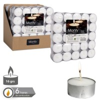 Set 50 velas tealight blanca 16gr 3,8cm