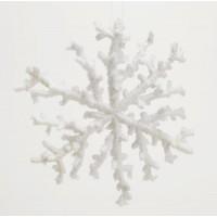 Adorno árbol de Navidad copo de nieve Ø20 cm