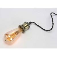 Bombilla de gota mercurio dorada luz blanca cálida Ø6.4x14h cm (220-240V E27 40W)