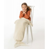 Manta infantil sirena crema 105x33 cm