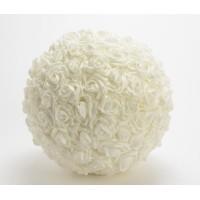 Bola de flores rosas blancas foam Ø30 cm