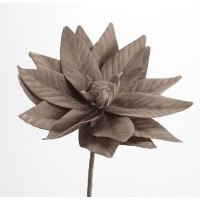 Flor foam topo hojas marcadas Loola 85h cm