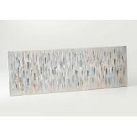 Lienzo cuadro abstracto apaisado tonos grises y plata Nuances 150x50 cm