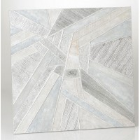Lienzo cuadro abstracto tonos grises y plata 2 modelos 100x100 cm