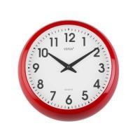 Reloj de pared marco rojo esfera blanca 30cm