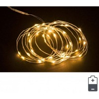 Cadena guirnalda luz navidad 40 luces micro-led color amarillo IP20