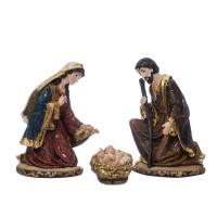 Belén navideño Misterio resina set de 3 figuras clásicas 19h cm
