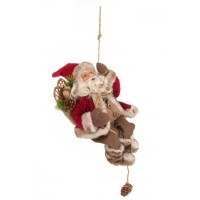 Muñeco colgante de Navidad Papa Noel Prilly Hang 15,5x12,5x22,5h cm