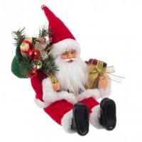 Muñeco de Navidad Papa Noel con regalos Tradizionale sentado 20x13x30h cm