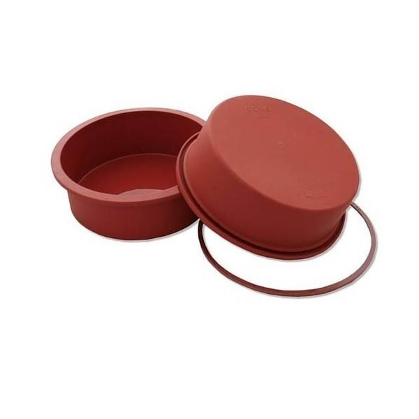 Round silicone mold for oven 18 cm Silikomart