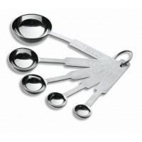 5 pcs. measuring spoon set s.teel inox