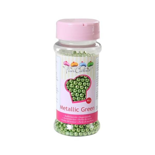 Sprinkles green pearls 80gr