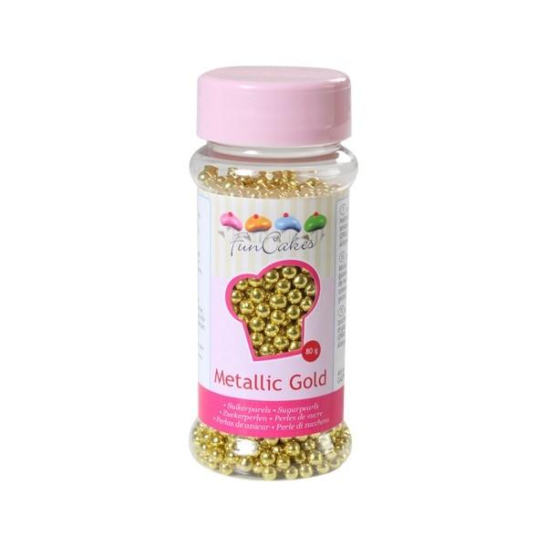 Sprinkles perlas doradas 80gr