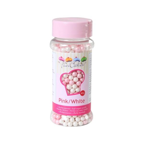 Sprinkles perlas rosas y blancas 60gr
