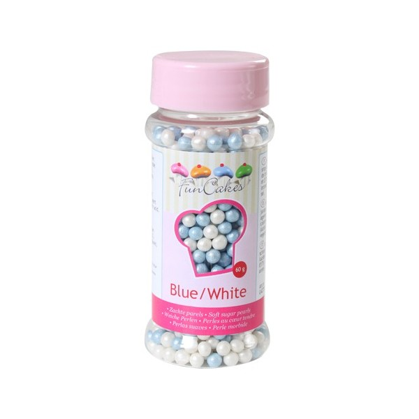 Sprinkles blue and white pearls 80gr