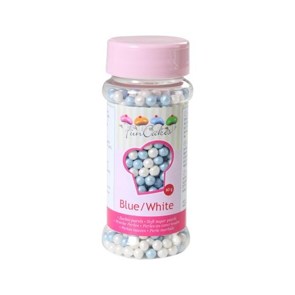 Sprinkles perlas azul y blancas 60gr