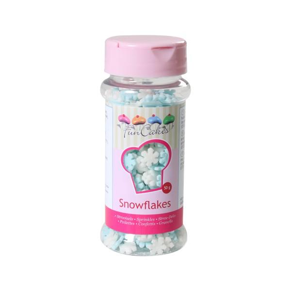 Sprinkles flocons de neige bleu/blanc 50gr