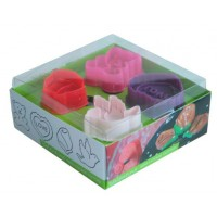 Mini cortadores Love set 4 unids Silikomart