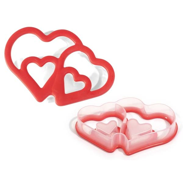 Cookie cutter with double heart Silikomart