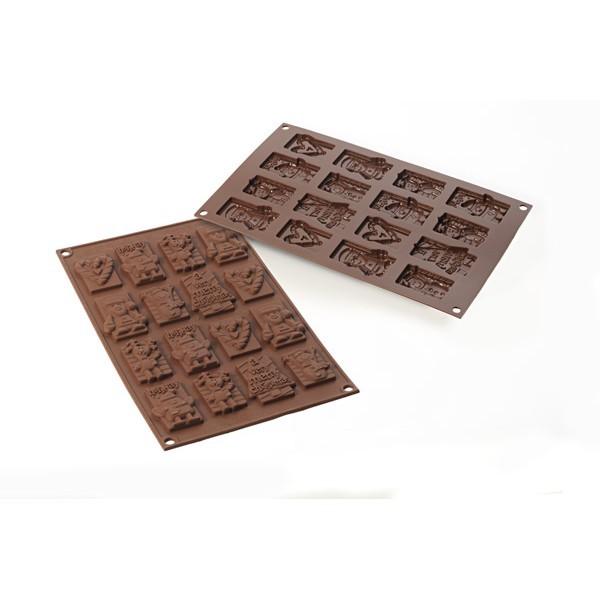 Molde silicona bombones Choco Tags Xmas Silikomart