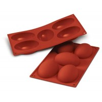 Molde silicona huevos 10X7 cm Silikomart