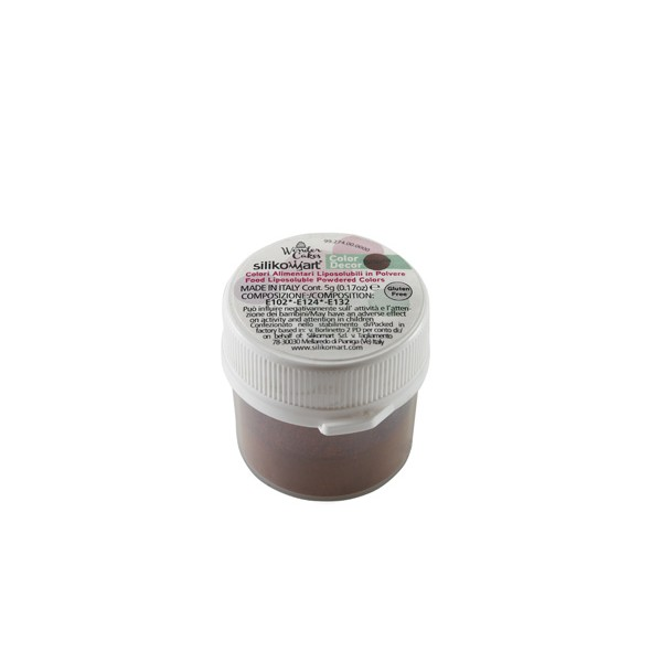 Coloration en poudre brun 5 gr Silikomart