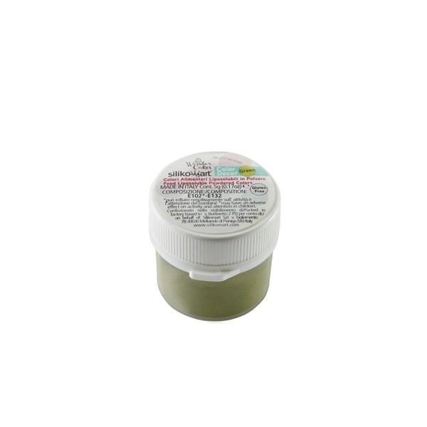Green color dust 5 gr Silikomart