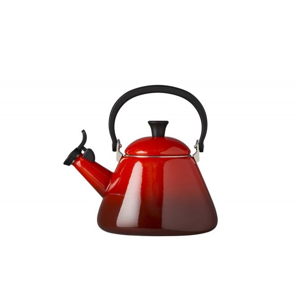 Red cherry kone teapot forged aluminum Le Creuset 1,6 l