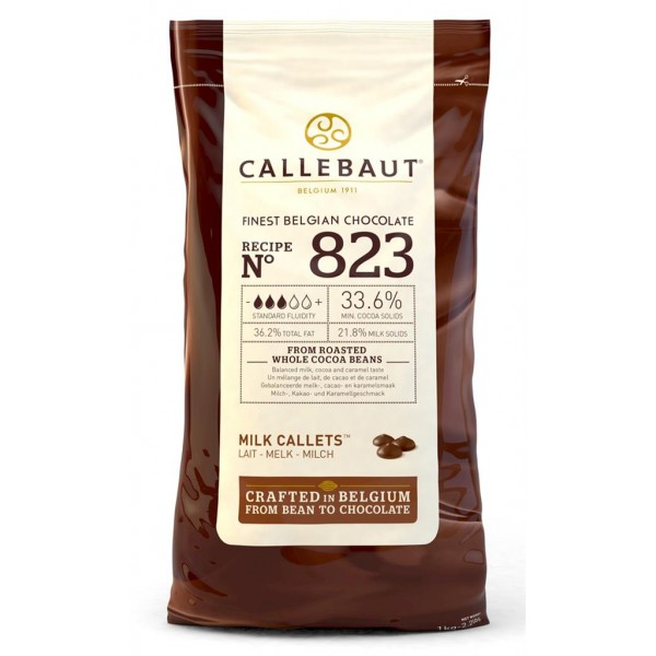 Chocolate belga con leche nº 823 Callebaut 1 Kg