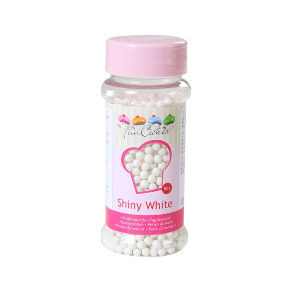 Sprinkles perlas blanco Shiny 80gr