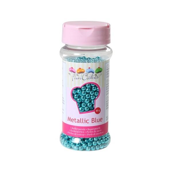 Sprinkles blue pearls 80gr