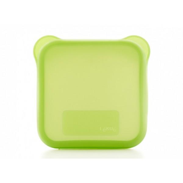 Funda para sándwich verde Lékué