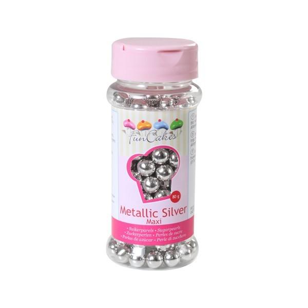 Sprinkles silver pearls maxi 8mm 80gr