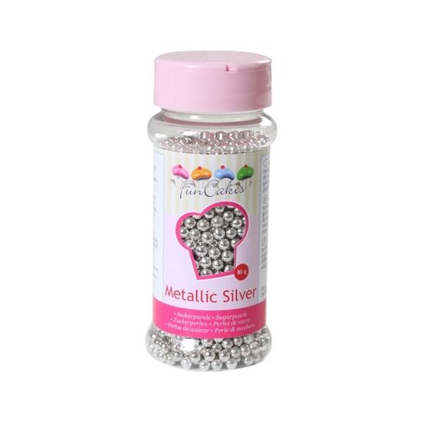 Sprinkles perlas plateadas 4mm 80gr